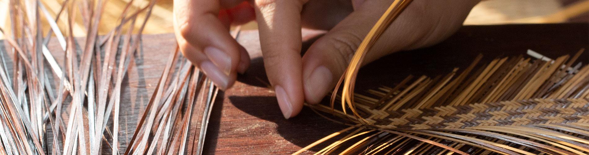 竹籠編み体験